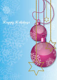 Happy holidays illustration. Card for christmas Royalty Free Stock Images