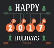 Happy Holidays  inscription for invitation and greeting ca Stock Photos