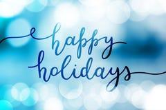 Happy holidays lettering stock illustration