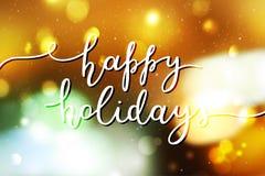Happy holidays lettering vector illustration