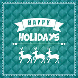 Happy holidays and merry christmas card Royalty Free Stock Images