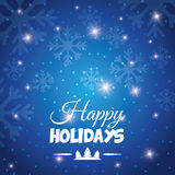 Happy holidays and merry christmas card Royalty Free Stock Image