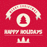 Happy holidays and merry christmas card Stock Photography
