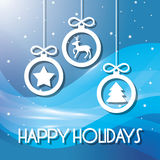 Happy holidays and merry christmas card Royalty Free Stock Photography