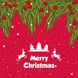 Happy holidays and merry christmas card design Royalty Free Stock Images