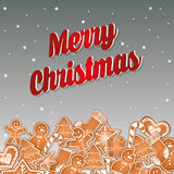 Happy holidays and merry christmas card design Royalty Free Stock Photos