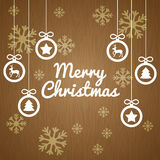 Happy holidays and merry christmas card design Royalty Free Stock Image
