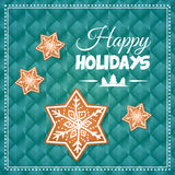 Happy holidays and merry christmas card design Royalty Free Stock Photography