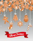 Happy holidays and merry christmas card design Stock Photos