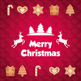 Happy holidays and merry christmas card design Stock Image