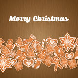 Happy holidays and merry christmas card design Stock Images