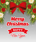 Happy holidays and merry christmas card design Stock Photography