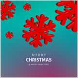Happy holidays Merry Christmas and Happy new year colorful vector design 2017 Stock Photos