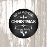 Happy holidays message at circle blackboard Stock Photos