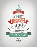 Happy holidays message with illustrations Stock Images