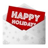 Happy Holidays message Royalty Free Stock Photos