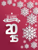 Happy holidays 2015 message vector Stock Images
