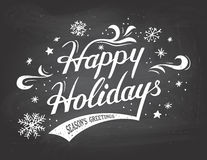Happy Holidays On Chalkboard Background Royalty Free Stock Photo