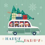 Happy holidays party vector illustration
