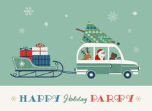 Happy holidays poster Stock Photography