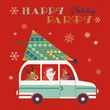 Happy holidays poster Royalty Free Stock Photography