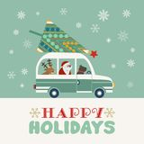 Happy holidays poster Stock Image