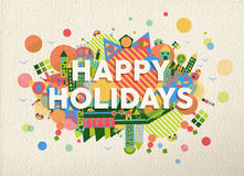 Happy holidays quote illustration stock image
