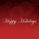 Happy Holidays Red Background Royalty Free Stock Photography