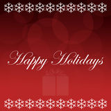 Happy Holidays Red Background Stock Images