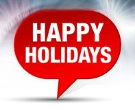 Happy Holidays Red Bubble Background stock illustration