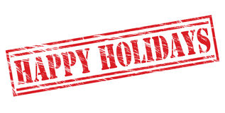 Happy holidays red stamp. Isolated on white background Royalty Free Stock Photography