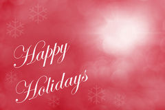 Happy Holidays. Red Textured Background Royalty Free Stock Image