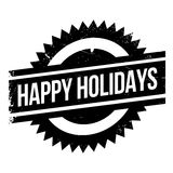 Happy Holidays rubber stamp. Grunge design with dust scratches. Effects can be easily removed for a clean, crisp look. Color is easily changed Stock Images