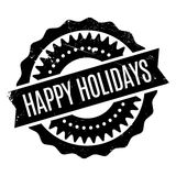 Happy Holidays rubber stamp Stock Photography