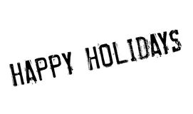 Happy Holidays rubber stamp Royalty Free Stock Photos
