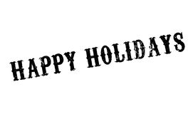 Happy Holidays rubber stamp Stock Photos