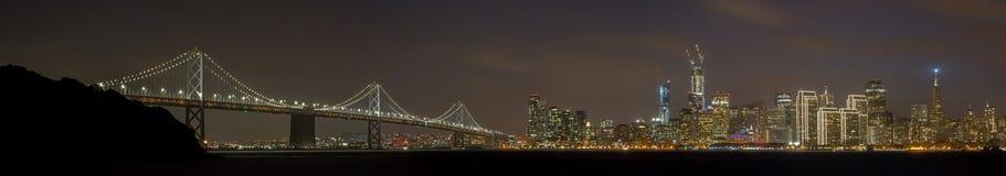 Happy Holidays San Francisco Panoramic Skyline Stock Photography