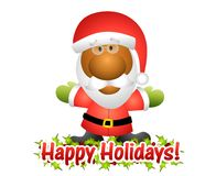 Happy Holidays Santa Claus 2 Royalty Free Stock Photo
