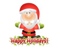 Happy Holidays Santa Claus Stock Images