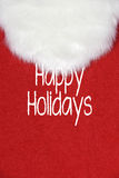 Happy Holidays Santa Claus beard on red Stock Images