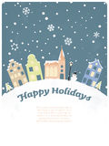 Happy Holidays Seasonal Greeting Card Stock Image