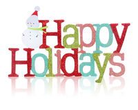 Happy Holidays Sign stock image