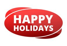Happy Holidays sign, icon. Happy Holidays sign, vector icon Stock Image