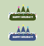 Happy Holidays Sign. In merry christmas and happy new year Royalty Free Stock Image