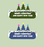 Happy Holidays Sign. In merry christmas and happy new year Stock Photography