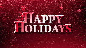 Happy Holidays with Snowflakes (Animation Loop)