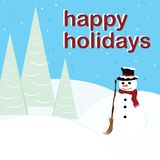 Happy Holidays - Snowman Royalty Free Stock Images