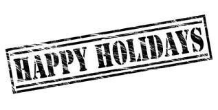 Happy holidays stamp. Happy holidays black stamp on White background Stock Photo