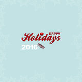 Happy holidays with stars and gift box Royalty Free Stock Photography