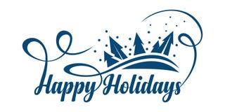 Free Happy Holidays Text Stock Image - 131408341